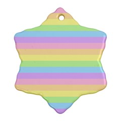 Cute Pastel Rainbow Stripes Ornament (snowflake)