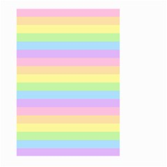 Cute Pastel Rainbow Stripes Large Garden Flag (two Sides)