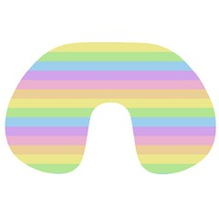Cute Pastel Rainbow Stripes Travel Neck Pillows