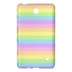 Cute Pastel Rainbow Stripes Samsung Galaxy Tab 4 (7 ) Hardshell Case