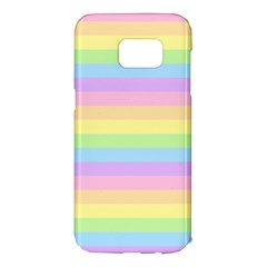 Cute Pastel Rainbow Stripes Samsung Galaxy S7 Edge Hardshell Case