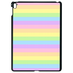 Cute Pastel Rainbow Stripes Apple Ipad Pro 9 7   Black Seamless Case