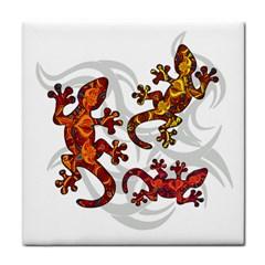 Ornate Lizards Face Towel