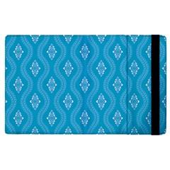 Blue Ornamental Pattern Apple Ipad Pro 9 7   Flip Case