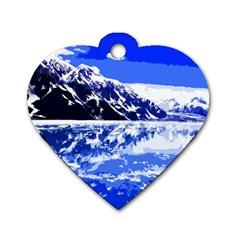Landscape Dog Tag Heart (one Side)