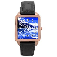 Landscape Rose Gold Leather Watch