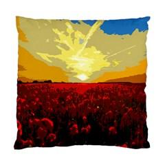 Poppy Field Standard Cushion Case (one Side)