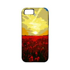 Poppy Field Apple Iphone 5 Classic Hardshell Case (pc+silicone)