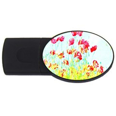 Poppy Field Usb Flash Drive Oval (2 Gb)