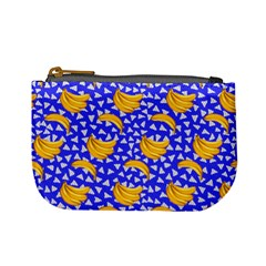 Purple Triangles & Banana Pattern Mini Coin Purse