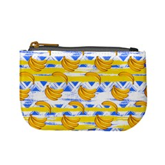 Dodger Blue Ikat Banana Pattern Mini Coin Purse