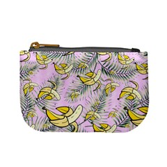 Plum Peeled Banana Pattern Mini Coin Purse