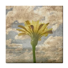 Shabby Chic Style Flower Over Blue Sky Photo  Face Towel