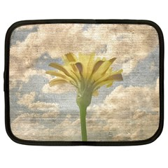 Shabby Chic Style Flower Over Blue Sky Photo  Netbook Case (xl)