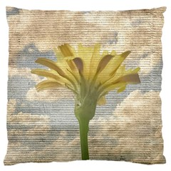 Shabby Chic Style Flower Over Blue Sky Photo  Large Cushion Case (two Sides)