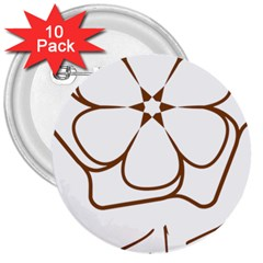 Logo Of Yazd  3  Buttons (10 Pack)