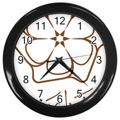 Logo Of Yazd  Wall Clocks (black)