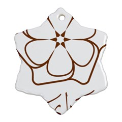 Logo Of Yazd  Snowflake Ornament (two Sides)