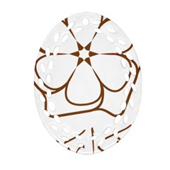 Logo Of Yazd  Oval Filigree Ornament (two Sides)