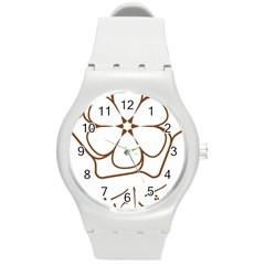 Logo Of Yazd  Round Plastic Sport Watch (m)