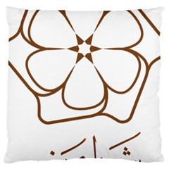 Logo Of Yazd  Large Cushion Case (one Side)