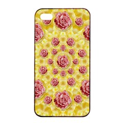 Roses And Fantasy Roses Apple Iphone 4/4s Seamless Case (black)