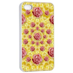 Roses And Fantasy Roses Apple Iphone 4/4s Seamless Case (white)