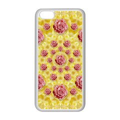 Roses And Fantasy Roses Apple Iphone 5c Seamless Case (white)