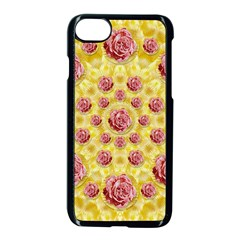 Roses And Fantasy Roses Apple Iphone 7 Seamless Case (black)