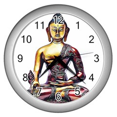 Buddha Wall Clocks (silver)