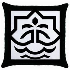 Seal Of Bandar Abbas Throw Pillow Case (black)