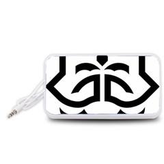 Seal Of Bandar Abbas Portable Speaker (white)