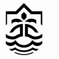 Seal Of Bandar Abbas Large Garden Flag (two Sides)
