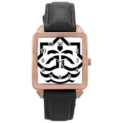 Seal Of Bandar Abbas Rose Gold Leather Watch