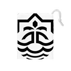 Seal Of Bandar Abbas Drawstring Pouches (medium)