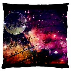 Letter From Outer Space Large Flano Cushion Case (one Side)