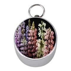 Flowers Mini Silver Compasses