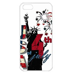 4th Of July Independence Day Apple Iphone 5 Seamless Case (white)
