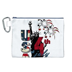 4th Of July Independence Day Canvas Cosmetic Bag (l)