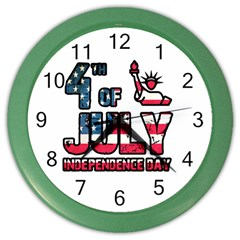 4th Of July Independence Day Color Wall Clocks
