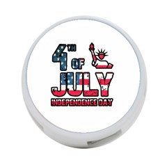 4th Of July Independence Day 4 Port Usb Hub (one Side)