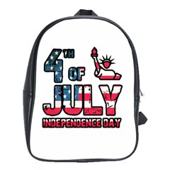 4th Of July Independence Day School Bags (xl)