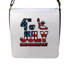 4th Of July Independence Day Flap Messenger Bag (l)