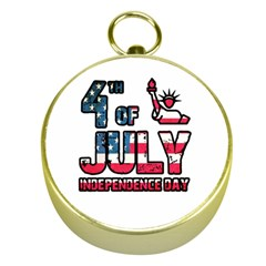 4th Of July Independence Day Gold Compasses