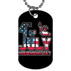 4th Of July Independence Day Dog Tag (two Sides)