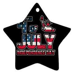 4th Of July Independence Day Star Ornament (two Sides)