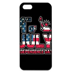 4th Of July Independence Day Apple Iphone 5 Seamless Case (black)
