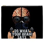 Do what your brain says Cosmetic Bag (XXXL)  Front