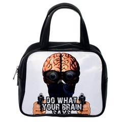 Do What Your Brain Says Classic Handbags (one Side)