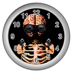 Do What Your Brain Says Wall Clocks (silver)